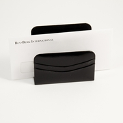 Black Leather Letter Holder
