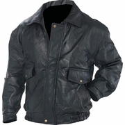 Bomber Style  Napoline™ Rock Design Leather Jacket