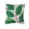 "Botanical Leaves Throw Pillow  17""sq."