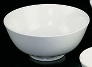 "Bowl, White Vegetable Serving Porcelain  7"" dia"