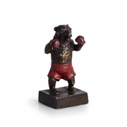Boxing Bear  Bronze Statue