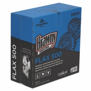 Brawny FLAX 500 Light Duty Cloths, 9 x 16 1/2, White, 132/Box, 10 Box/Carton