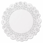 "Brooklace Lace Doilies, Round, 6"", White, 2000/Carton"