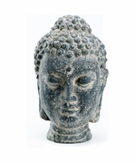 Buddha Head Stone Look Cast Resin