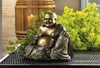 "Buddha Statue with Metallic Fleck Finish  8""h."
