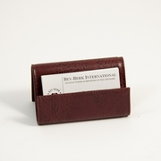 Business Card Holder, Tan Leather