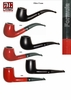 Butz-Choquin Tobacco Pipe  Formula   Matte Black or  High Polish Red