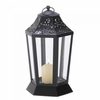 "Candle Lantern Midnight Garden  9-3/4""h"