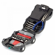 Car Tool Kit with Light 34pc