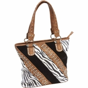 Casual Outfitters Ladies Fashion Zebra Purse