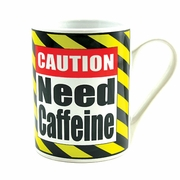 Caution Need Caffeine Ceramic Mug