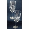 Champagne Flute with Double Male Symbol  (Pair)