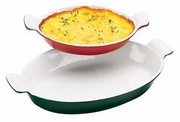 Chasseur Enameled Cast-Iron Oval Casserole Dish  1/2QT