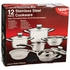 Chef's  Secret® 12pc 9-Ply Surgical Stainless Steel Cookware Set