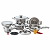Chef's  Secret 12pc 9-Ply Surgical Stainless Steel Cookware Set