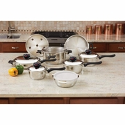 Chef's Secret®  15pc 9-Element 304 Stainless Steel Cookware