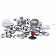 Chef's Secret  22pc 7-Ply, High-Quality, Heavy-Duty Stainless Steel Cookware Set