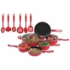 Chef's Secret   Red Aluminum Cookware Set 16pc