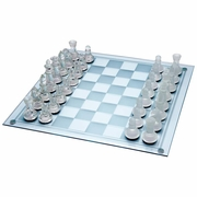 Chess Set Glass 33pc