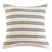 "Chic Stripes Throw Pillow  18"" sq."