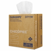 Chicopee Durawipe Medium-Duty Industrial Wipers, 8.8 x 17, White, 86/Box, 12 Box/Carton