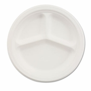 "Chinet ® Three Compartment Paper Plates  9-1/4"" dia.   500/case"