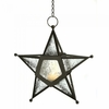 Clear Glass or Red Glass Star Lantern