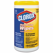 Clorox  Disinfecting Wipes Lemon Fresh   75Ct   6/cs  FREE SHIPPING