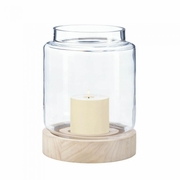 "Coastal Cabin Hurricane Candle Holder Large  8.5""h"