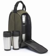 Coffee Companion Tote Set  Brown