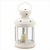 Colonial Candle Lamp  White Finish
