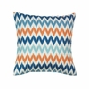 "Contemporary Chevron Throw Pillow 17""sq."