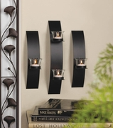 Contemporary Wall Sconce Trio for Tea Lights