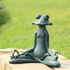 Contented Yoga Frog Garden Sculture