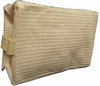 Cotton Waffle Cosmetic Bag Large Beige
