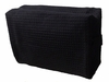 Cotton Waffle Cosmetic Bag, Large, Black