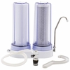 Countertop Dual-Stage Water Filtration System Clear Chambers