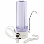 Countertop Single-Stage Water Filtration System Clear Chamber
