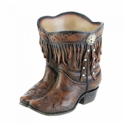 Fringed Cowboy Boots Planter