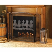 Cowboy Round-Up Fireplace Screen  FREE SHIPPING