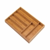 Cutlery Organizer 6 Section Bamboo Tray