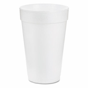 Dart Drink Foam Drink Cup, 14oz, White, 1000/Carton