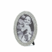 Dazzling Jeweled Oval Frame  4 x 6