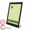 Deflect-o Sign Holder Black Border Acrylic holds 5 x 7 Insert
