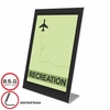 Deflect-o Sign Holder Black Border Acrylic  for 8.5 x 11 Insert