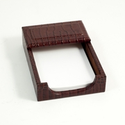 Desk Memo Holder Croco-Grained Leather