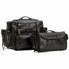 Diamond Plate 2pc Heavy-Duty Waterproof PVC Motorcycle Tour Bag Set