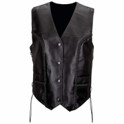 Diamond Plate™ Ladies' Solid Genuine Leather Vest