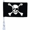 Diamond Plate™ Motorcycle Flagpole Mount and Skull/Cross-Bones Flag