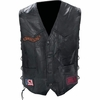 Diamond Plate™ Rock Design Buffalo Leather Biker Vest